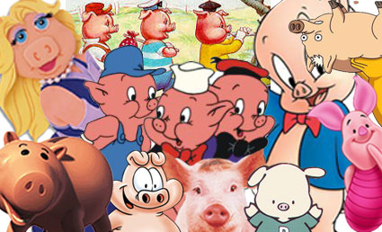 Piggy Characters Colllage